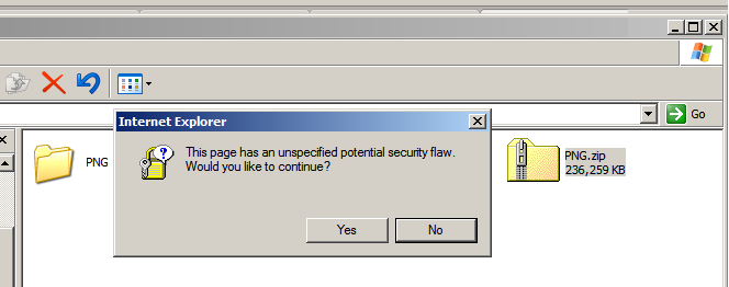 Windows dialog box