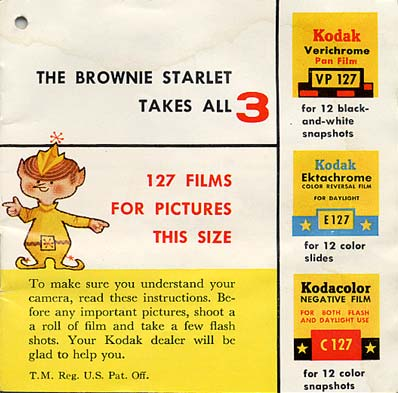 The Brownie Starlet takes all 3 (film formats)